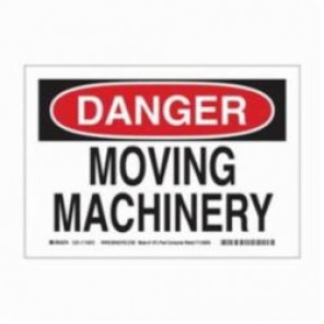 Brady® 115972 Eco-Friendly Rectangle Danger Sign, 7 in H x 10 in W, Black/Red on White, Surface Mount, B-586 Paper