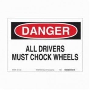 Brady® 115998 Eco-Friendly Rectangle Danger Sign, 10 in H x 14 in W, Black/Red on White, Surface Mount, B-586 Paper