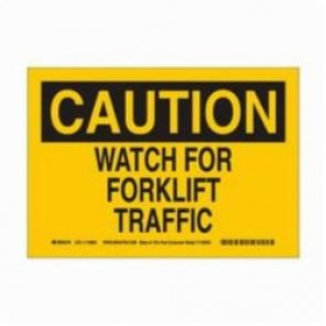 Brady® 116062 Eco-Friendly Rectangle Caution Sign, 7 in H x 10 in W, Black on Yellow, Surface Mount, B-586 Paper