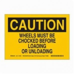 Brady® 116072 Eco-Friendly Rectangle Caution Sign, 10 in H x 14 in W, Black on Yellow, Surface Mount, B-586 Paper