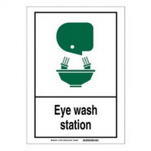 Brady® 119993 Fire Safety Sign, 5 in H x 7 in W, Black/Green on White, Self-Adhesive Mount, B-946 Vinyl