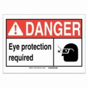 Brady® 120602 Fire Safety Sign, 5 in H x 7 in W, Black/Red on White, Self-Adhesive Mount, B-946 Vinyl