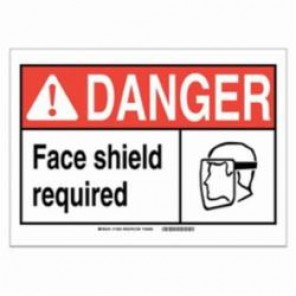 Brady® 120632 Fire Safety Sign, 5 in H x 7 in W, Black/Red on White, Self-Adhesive Mount, B-946 Vinyl