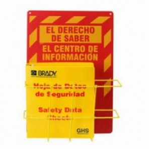 Brady® 121371 Right To Know Center, El DERECHO DE SABER EL CENTRO DE INFORMACION, Spanish, 20 in H x 14 in W