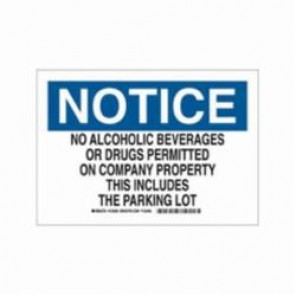Brady® 123598 Rectangle Security Sign, 10 in H x 14 in W, Black/Blue on White, B-302 Polyester
