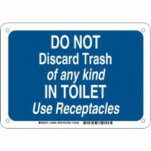 Brady® 123985 Rectangle Restroom Sign, 7 in H x 10 in W, White on Blue, Surface Mount, B-302 Polyester