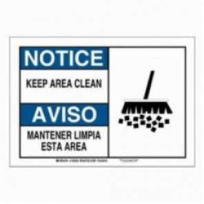 Brady® 125037 Safety Sign, 7 in H x 10 in W, Black/Blue on White, Surface Mount, B-555 Aluminum