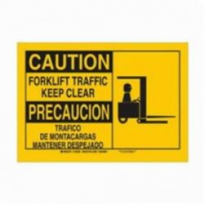 Brady® 125382 Rectangle Safety Sign, 10 in H x 14 in W, Black on Yellow, Surface Mount, B-555 Aluminum