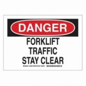 Brady® 129527 Laminated Rectangle Traffic Control Sign, 7 in H x 10 in W, Black/Red on White, B-302 Polyester