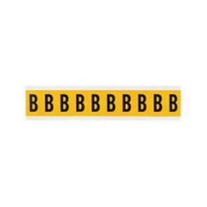 "Brady® 1520-B Standard Letter Label, 5/8 in B"" Character, 3/4 in H x 9/16 in W, Black on Yellow"""