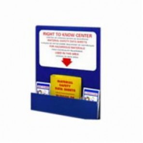 "Brady® Prinzing® 2013 Right-To-Know Board, ""RIGHT TO KNOW"" CENTER CENTRO DE COMMUNICACION DE REQUIRIDAD... ETC, English/Spanish, Red/White on Blue, 30 in H x 24 in W"