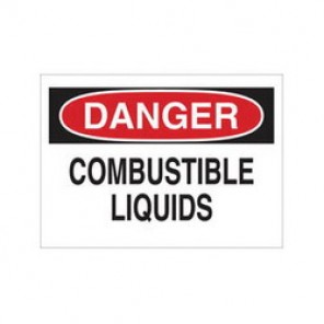 Brady® 22317 Chemical & Hazardous Material Sign, 7 in H x 10 in W, Black/Red on White, Surface Mount, B-401 Plastic