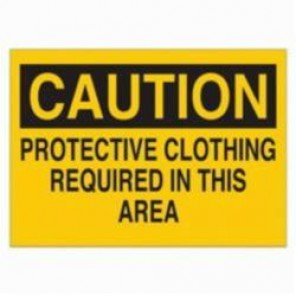 Brady® 22415 High Impact Rectangle Confined Space Sign, 7 in H x 10 in W, Black on Yellow, Surface Mount, B-401 Plastic