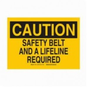 Brady® 22420 Rectangle Confined Space Sign, 7 in H x 10 in W, Black on Yellow, Surface Mount, B-401 Plastic