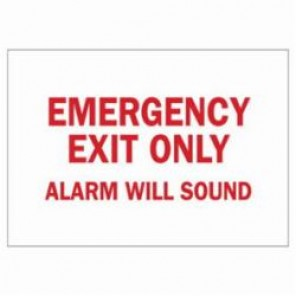 Brady® 22484 Door Sign, 10 in H x 14 in W, Red on White, Surface Mount, B-401 High Impact Polystyrene