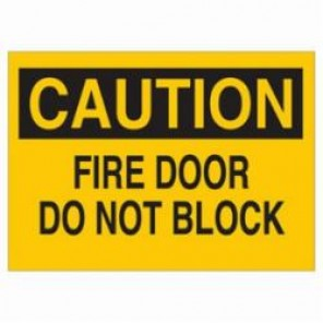 Brady® 22510 Door Sign, 10 in H x 14 in W, Black on Yellow, Surface Mount, B-401 High Impact Polystyrene