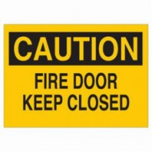 Brady® 22511 Door Sign, 7 in H x 10 in W, Black on Yellow, Surface Mount, B-401 High Impact Polystyrene