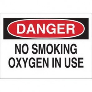 Brady® 25087 No Smoking Sign, 10 in H x 14 in W, Black/Red on White, Surface Mount, B-401 Plastic