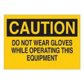 Brady® 25193 Protective Wear Sign, 10 in H x 14 in W, Black/Yellow, Surface Mount, B-401 Plastic