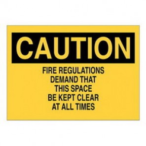 Brady® 25642 Fire Sign, 7 in H x 10 in W, Black/Yellow, Surface Mount, B-401 Plastic