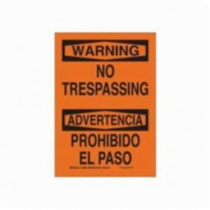 Brady® 39517 Rectangle Security Sign, 20 in H x 14 in W, Black on Orange, Surface Mount, B-120 Premium Fiberglass