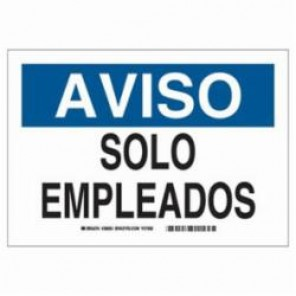 Brady® 38663 Safety Sign, 14 in H x 10 in W, Black/Blue on White, B-401 High Impact Polystyrene