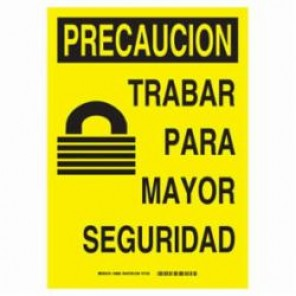 Brady® 38883 Safety Sign, 14 in H x 10 in W, Black on Yellow, B-401 High Impact Polystyrene