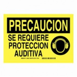 Brady® 38962 Personal Protection Equipment Sign, 7 in H x 10 in W, Black on Yellow, B-401 High Impact Polystyrene