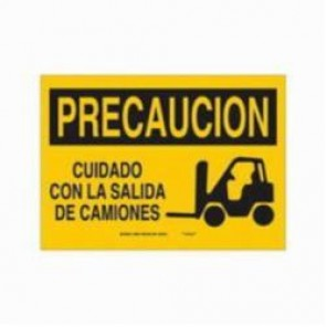 Brady® 39850 Rectangle Caution Sign, 7 in H x 10 in W, Black on Yellow, Surface Mount, B-120 Premium Fiberglass
