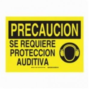 Brady® 39870 Rectangle Caution Sign, 10 in H x 14 in W, Black on Yellow, Surface Mount, B-120 Premium Fiberglass
