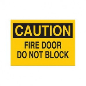 Brady® 41073 Door Sign, 7 in H x 10 in W, Black on Yellow, Surface Mount, B-555 Aluminum