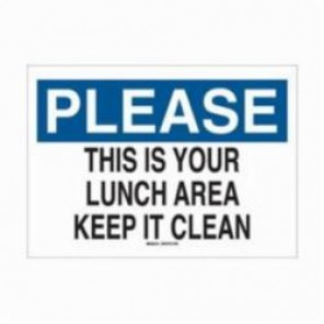 Brady® 78227 Rectangle Maintenance Sign, 14 in H x 20 in W, Black/Blue on White, Surface Mount, B-120 Premium Fiberglass