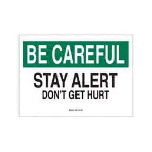 Brady® 42876 Laminated Safety Slogan Sign, 7 in H x 10 in W, Green/Black on White, Surface Mount, B-555 Aluminum