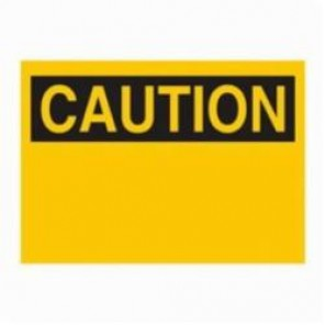 Brady® 25357 Rectangle Blank Sign, 10 in H x 14 in W, Black on Yellow, Surface Mount, B-401 Plastic