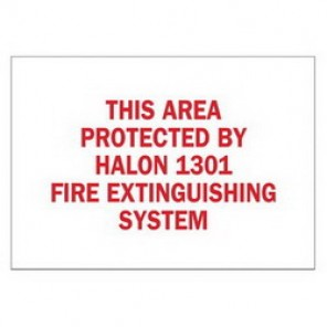 Brady® 43283 Fire Sign, 7 in H x 10 in W, Red on White, Surface Mount, B-555 Aluminum