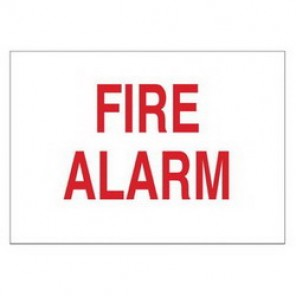 Brady® 43285 Fire Sign, 14 in H x 10 in W, White on Red, Surface Mount, B-555 Aluminum