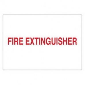 Brady® 43293 Fire Sign, 7 in H x 10 in W, Red on White, Surface Mount, B-555 Aluminum