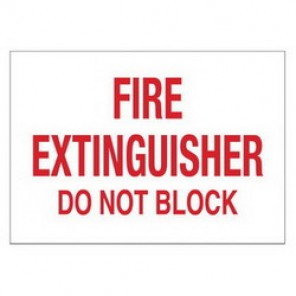 Brady® 43298 Fire Sign, 14 in H x 10 in W, White on Red, Surface Mount, B-555 Aluminum