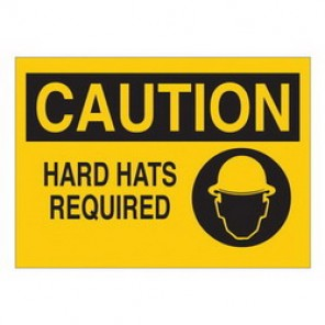 Brady® 43470 Laminated Protective Wear Sign, 10 in H x 14 in W, Black on Yellow, Surface Mount, B-555 Aluminum