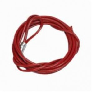 Brady® 45350 Lockout Cable, 10 ft L, Steel, Red Plastic Coated