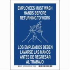 Brady® 47643 High Performance Laminated Rectangle Restroom Sign, 10 in H x 7 in W, Blue on White, B-302 Polyester
