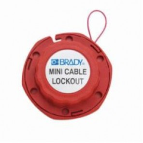 Brady® 50940 Mini Cable Lockout, Danger, Locked Out, Do Not Remove, 8 ft L Vinyl Coated Steel, 6 Padlocks, Red