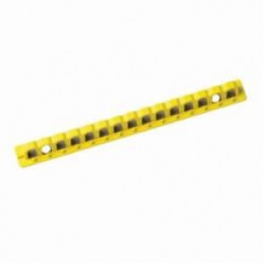 Brady® 51258 EZ Panel Loc® Circuit Breaker Lockout Lock Rail, For Use With EZ Panel Loc® System, LOTO-44 Isoplast Polymer with Acrylic Adhesive Backing, Yellow
