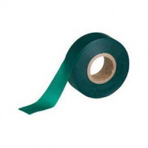 Brady® 58343 Non-Adhesive Flagging Tape, 300 ft Roll L x 1-3/16 in W, Green