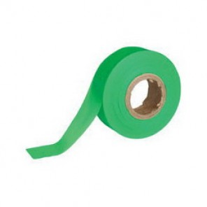 Brady® 58353 Non-Adhesive Flagging Tape, 150 ft Roll L x 1-3/16 in W, Fluorescent Green