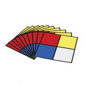 Brady® 58500 Outdoor Grade NFPA Placard, 2-1/2 in H x 2-1/2 in W, Black/Red/Blue/Yellow on White, Surface