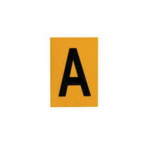 Brady® 1500-A 15 Series Standard Letter Label, 1/4 in A Character, 3/8 in H x 1/4 in W, Black on Yellow