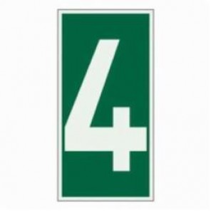 Brady® 59305 Rectangle Evacuation Sign, 6 in H x 3 in W, Light Green on Green, Self-Adhesive Mount, B-324 Glow-In-The-Dark Polyester