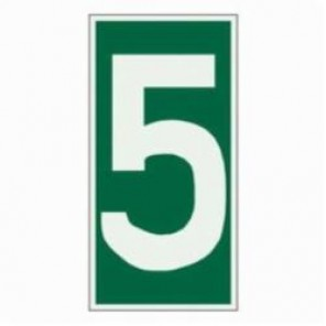 Brady® 59307 Rectangle Evacuation Sign, 6 in H x 3 in W, Light Green on Green, Self-Adhesive Mount, B-324 Glow-In-The-Dark Polyester
