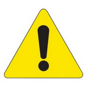 Brady® 60210 Square Warning Label, 2 in H x 2 in W, B-946 Vinyl, Black on Yellow